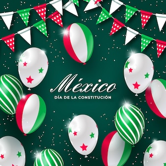 Mexican constitution day balloons