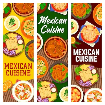 Мясные блюда мексиканской кухни, блюда из морепродуктов баннер