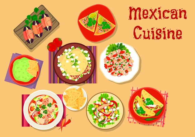 Mexican cuisine spicy salad and snack
