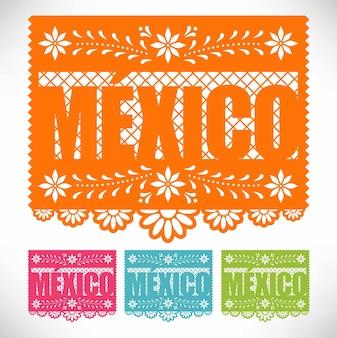 Набор мексиканской вырезанной бумаги