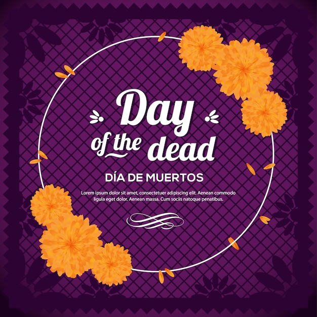Mexican day of the dead composition