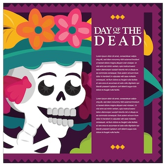 죽은 catrina의 멕시코 날