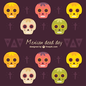 Mexican dead day background