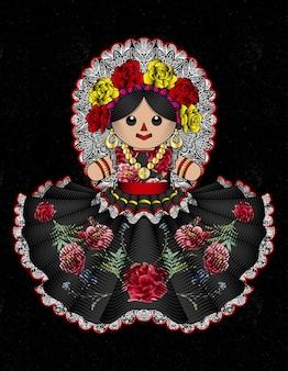 伝統的なメキシコの人形