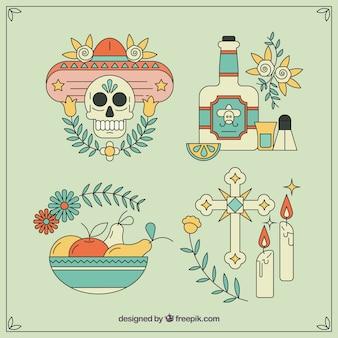 Elementi messicani con stile originale