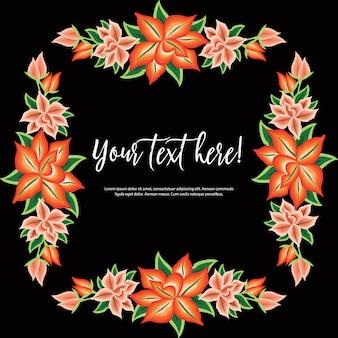メキシコの刺繡スタイルの花のテンプレート