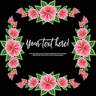 Mexican embroidery style floral template