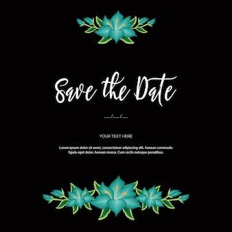 Приглашение на свадьбу в мексиканском стиле с цветочной вышивкой