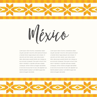 Mexican embroidery style - template