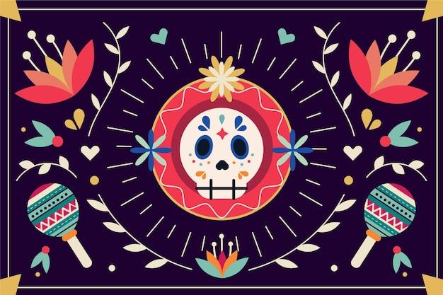멕시코 평면 화려한 배경