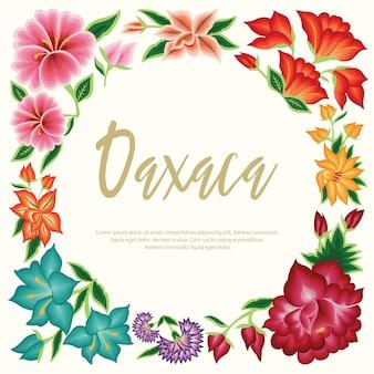 Мексиканские цветочные тематические иллюстрации