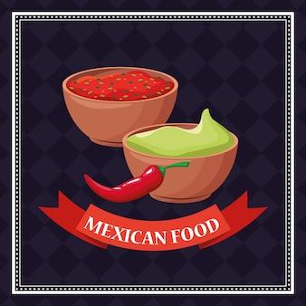 멕시코 음식 배경