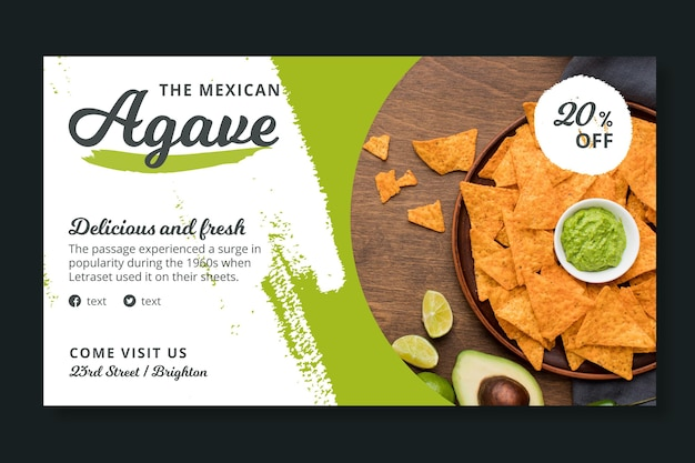 Mexican food banner template