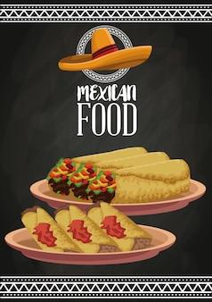 Mexican food brochure
