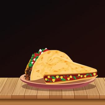 Mexican food cartoons