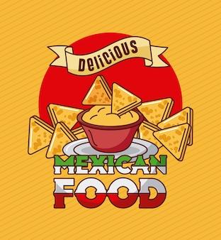 Mexican food delicious nachos cheddar spice