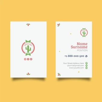 Mexican food double-sided businesscard v