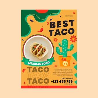 Modello di volantino di cibo messicano