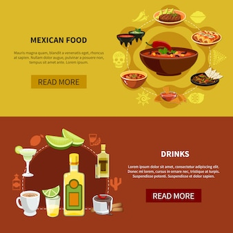 Mexican food horizontal banners