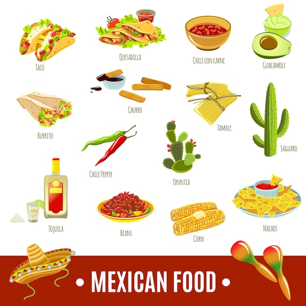 Free Mexican Food Icon Set SVG DXF EPS PNG - Logo SVG File