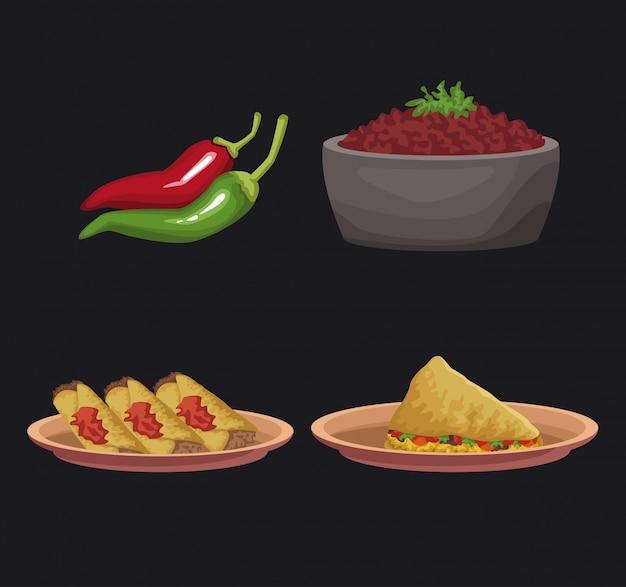 メキシコ料理のアイコン
