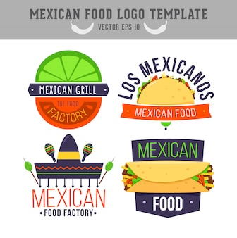 Mexican food logo template.