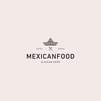 Mexican food logo vector illustration