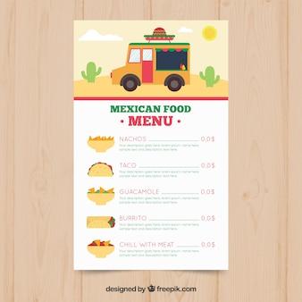트럭 멕시코 음식 메뉴