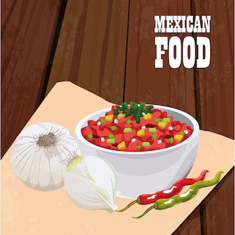 Mexican food poster with vegetables