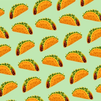 Mexican food restaurant with tacos pattern