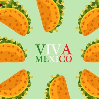 타코가있는 멕시코 음식 레스토랑