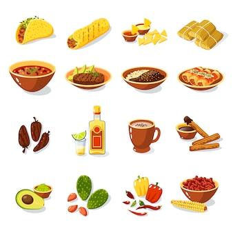 멕시코 음식 세트