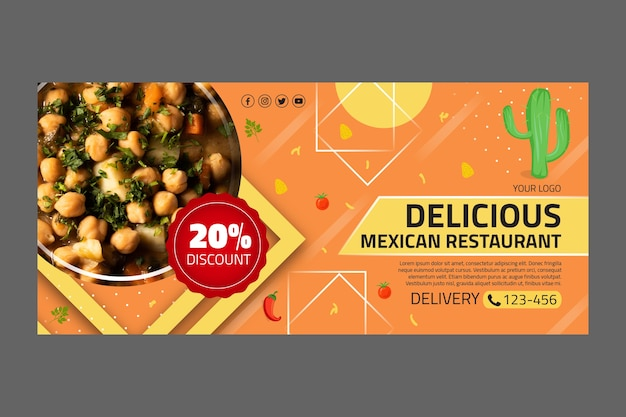 Mexican food template banner