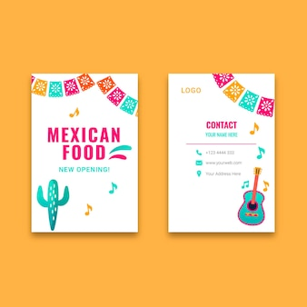 멕시코 음식 세로 명함