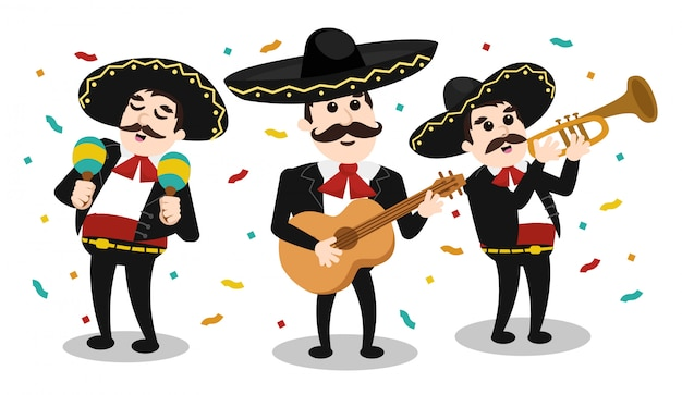 Mexican group of mariachi
