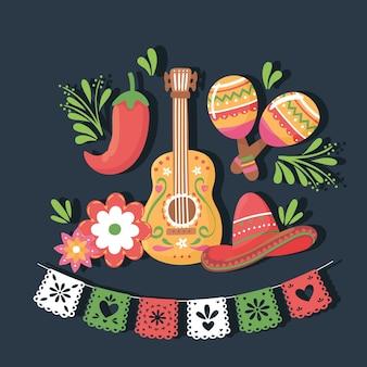 Mexican guitar maracas