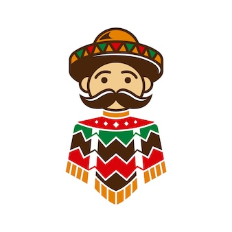 Mexican guy poncho design
