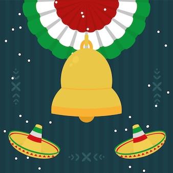 멕시코 모자와 벨 아이콘