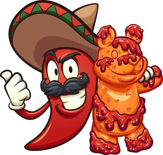 Иллюстрация мексиканского острого перца чили