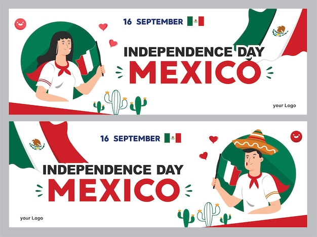 メキシコ独立記念日のイラスト9月16日背景vivaメキシコのポスター
