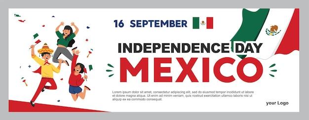 メキシコの独立記念日のイラスト9月16日背景のポスター