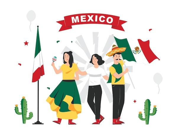 День независимости мексики иллюстрация 16 сентября плакат для фона