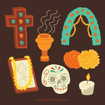 Mexican items for day of the dead