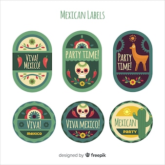 Mexican label collection