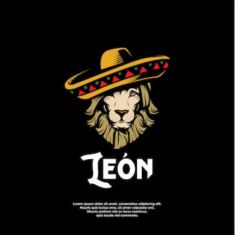 Mexican lion logo template