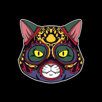 Мексиканская лучадорская кошка