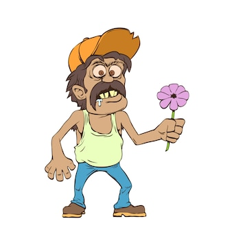 Mexican man with flower
