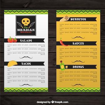 典型的な食品とメキシコのメニュー