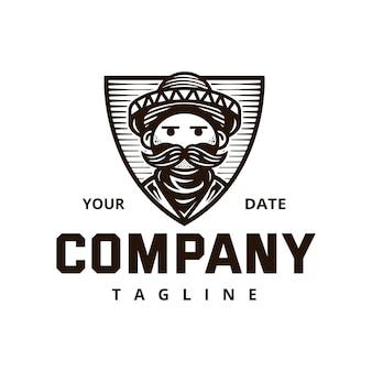 メキシコの無法者のロゴのテンプレート