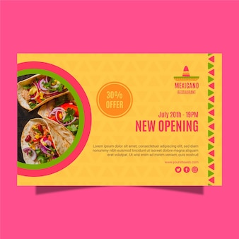 Mexican restaurant banner template